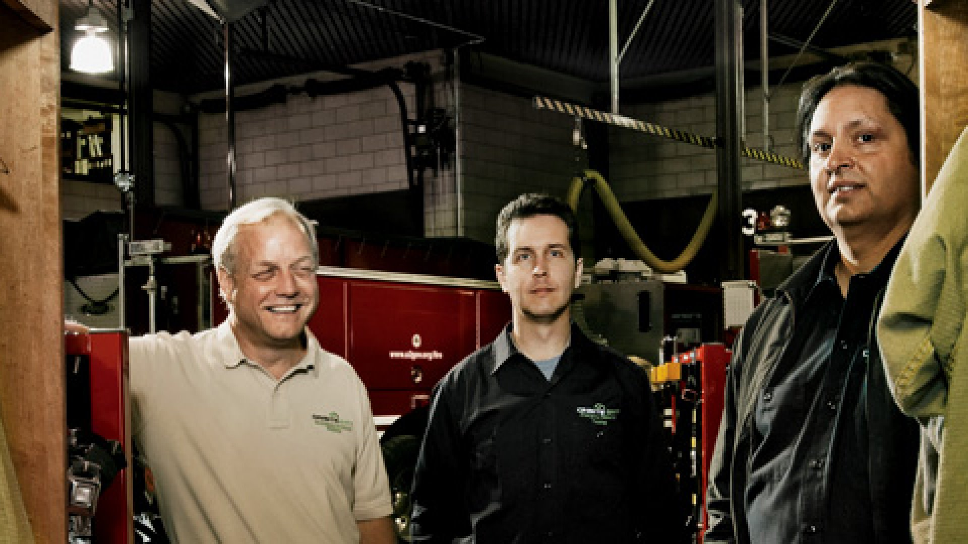 <strong>SAFETY FIRST</strong> John Ellis (left), Dennis Carmichael, and Tony Mazzola at an Ann Arbor, Michigan, firehouse that uses their OnSite ERT system.