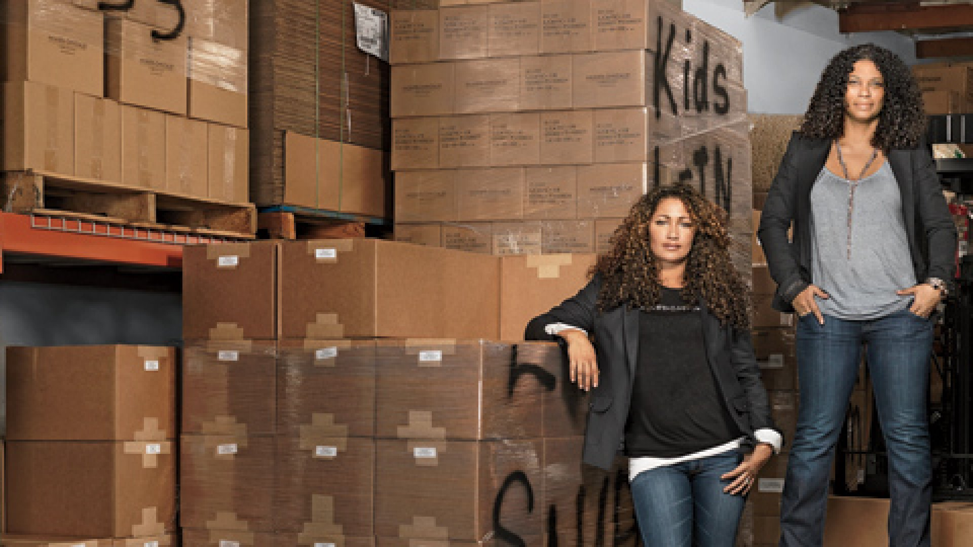 <b>The Right Mix:</b> Wendi Levy (left) and Kim Etheredge had a big hit with hair products for multicultural women.