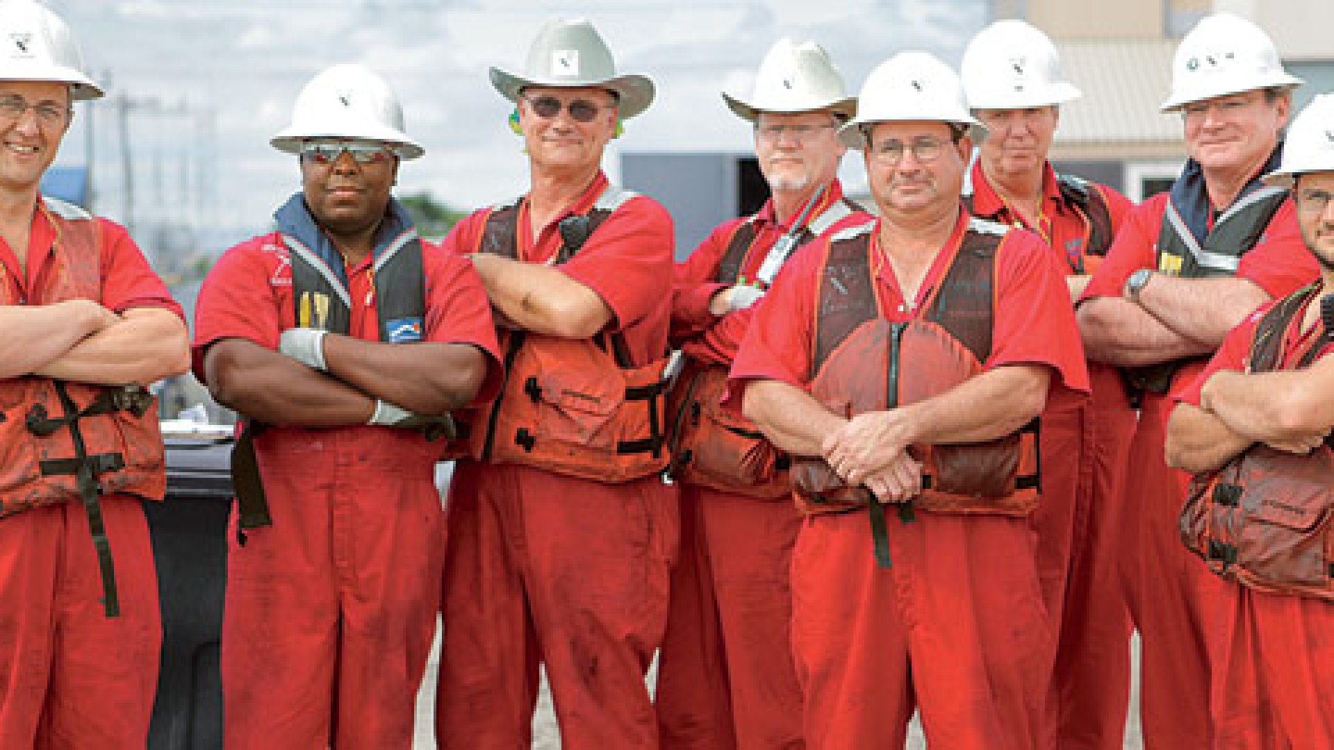 <b>Cleanup Kings</b> Elastec CEO Donald Wilson (fourth from left) and his team won a $1 million prize.