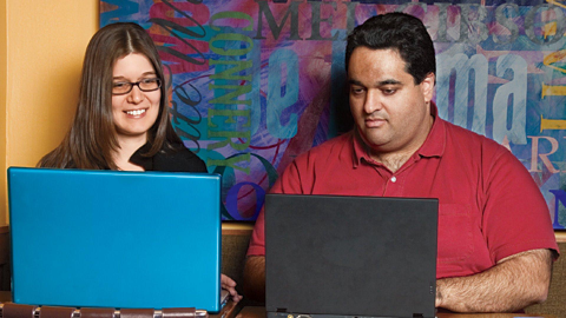 Low Overhead: Lifesta's co-founders, Yael Gavish and Eran Davidov, run their company out of a café in New York City.
