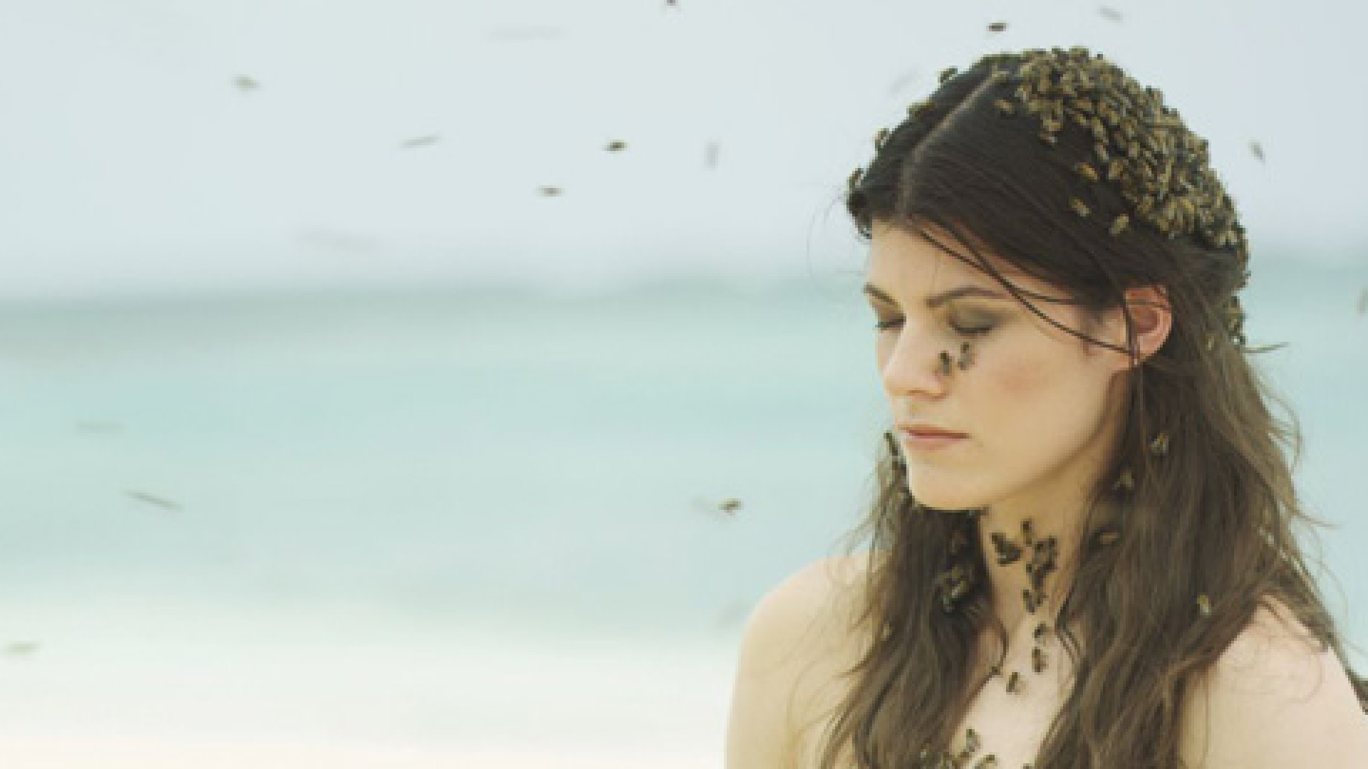 <strong>The Threat Posed:</strong> To call attention to  colony collapse disorder, model-cum-entrepreneur Summer Rayne Oakes devised a fashion shoot in which she wore only a swarm of bees.