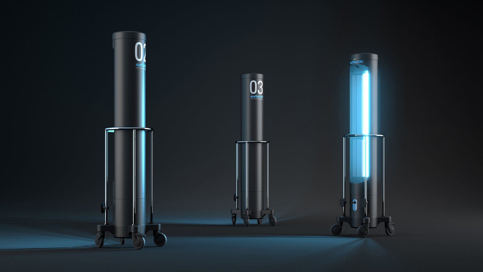 Surfacide's Helios System uses UV-C radiation to kill germs on surfaces.