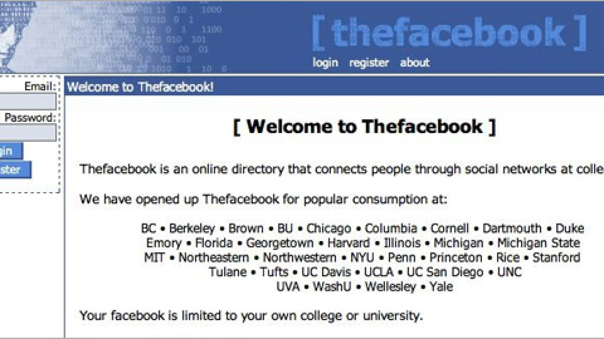 <strong>WELCOME:</strong>The original layout lasting from 2004-2010.