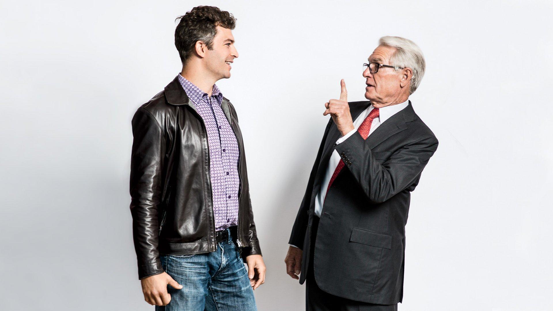 Aaron Patzer (Left) & Charles Schwab