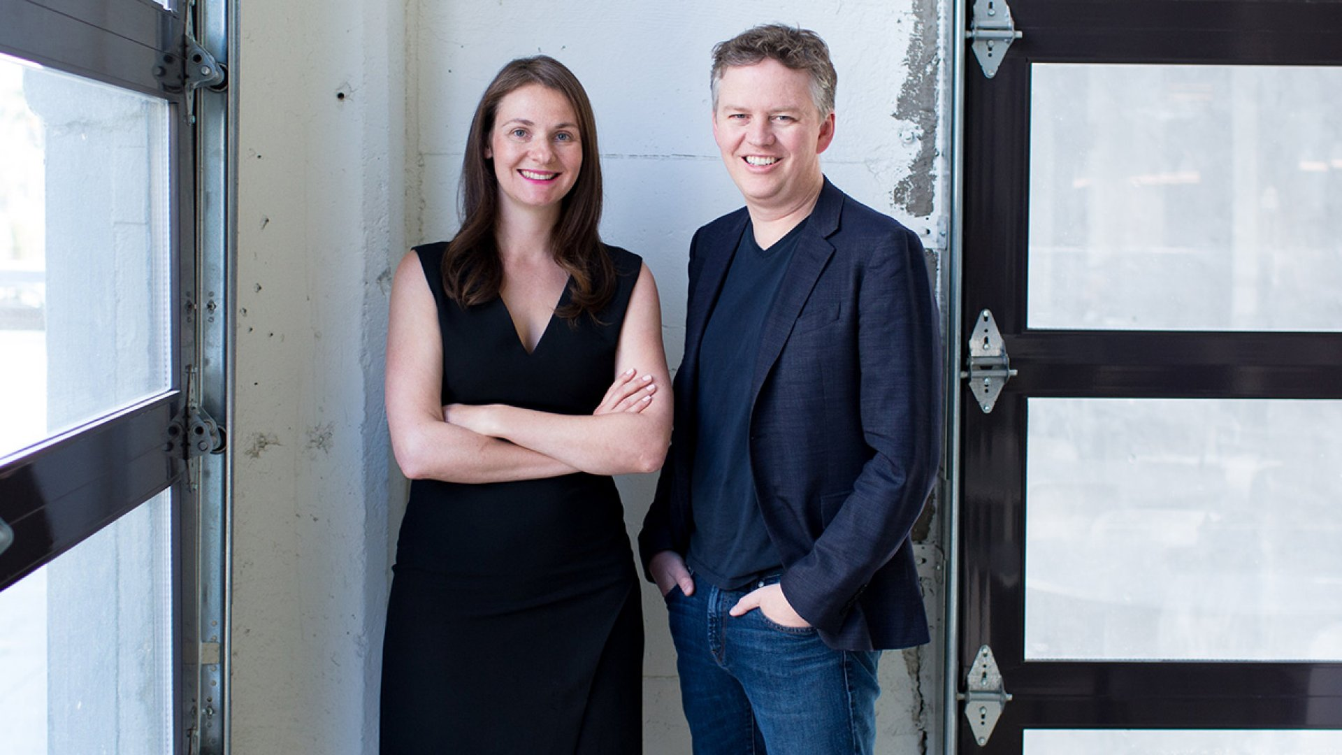 CloudFlare's Michelle Zatlyn, co-founder and COO, and Matthew Prince, co-founder and CEO.