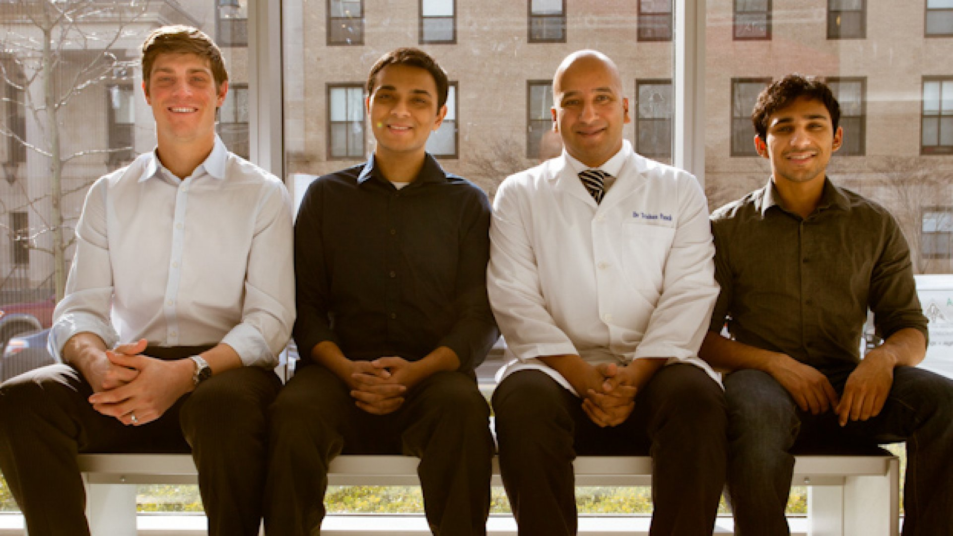 The Wellframe team (from left to right): Jacob Sattelmair, Archit Bhise, Trishan Panch and Vinnie Ramesh.