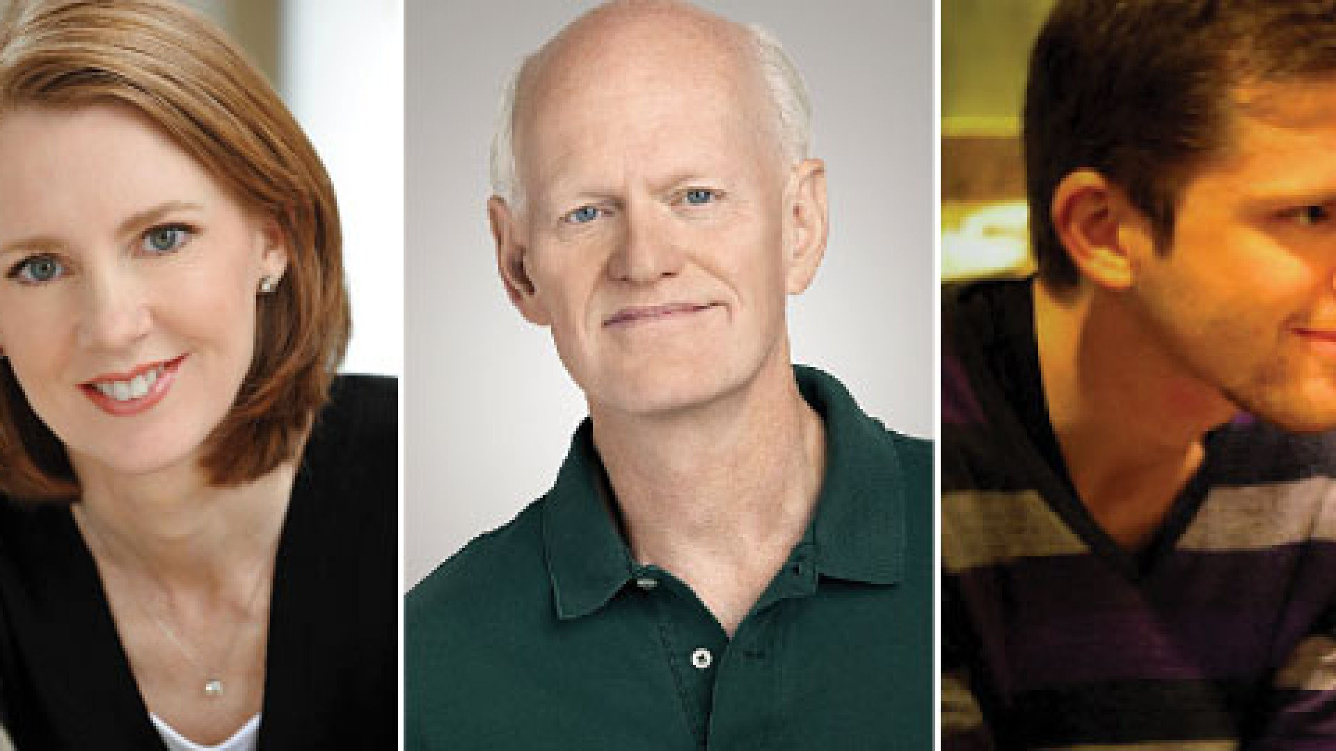 From Left: Gretchen Rubin, Marshall Goldsmith, and Chris Guillebeau
