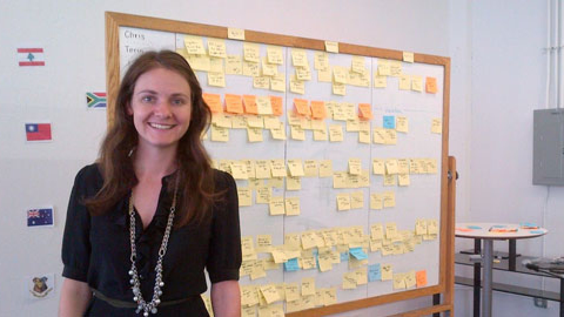 One of Michelle Zatlyn's key strategies at Cloudflare? Post-its--lots of Post-its.
