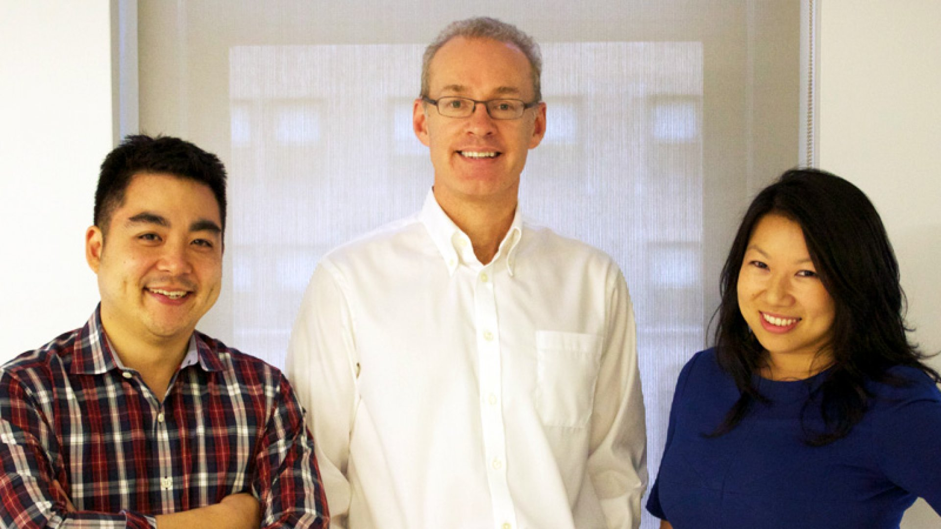 Meet Zola: Shan-Lyn Ma, CEO and co-founder (at right), Kevin Ryan, chairman and co-founder (center), and Nobu Nakaguchi, CDO and co-founder.