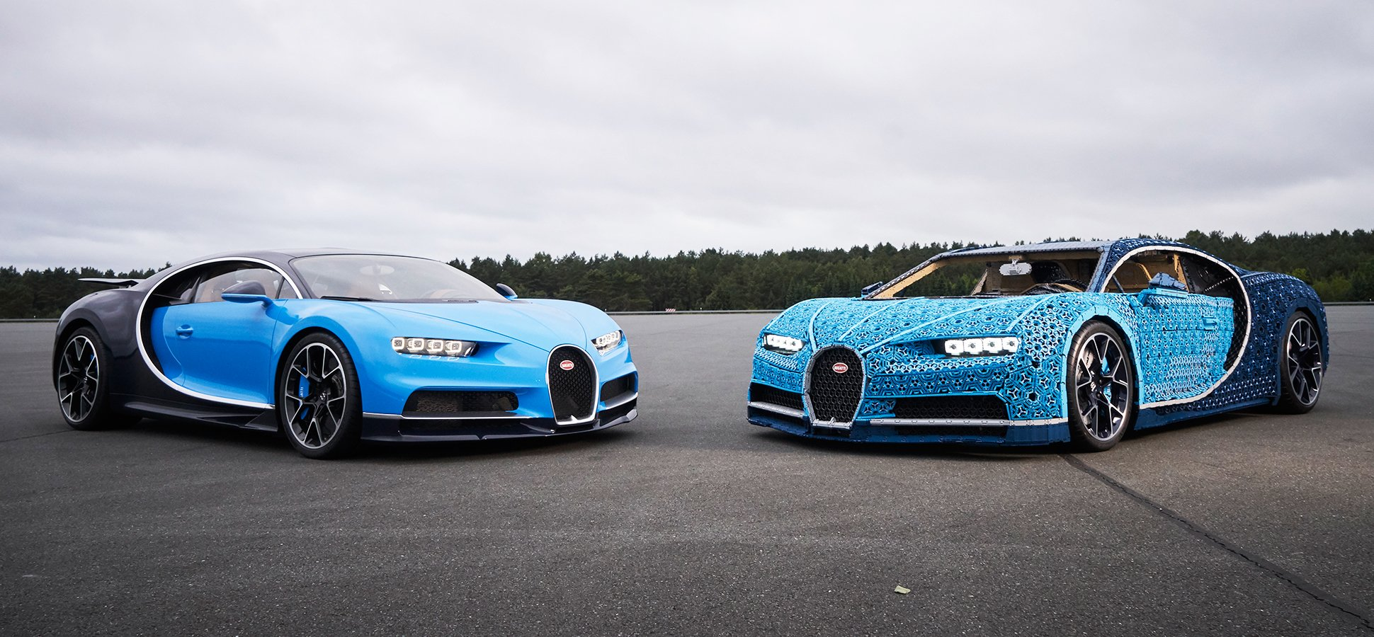 LEGO Nails Another Smart Marketing Opportunity With a Life-Size, Drivable Bugatti Chiron Car ...