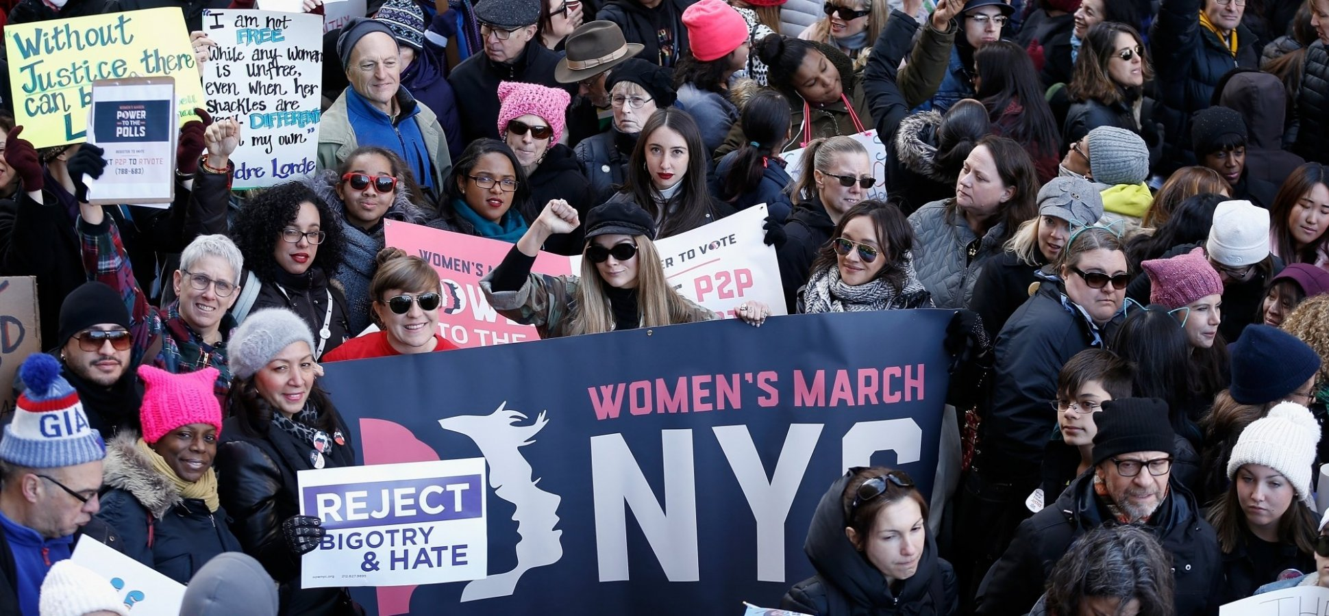 At the New York Women's March: A New Crowdfunding Platform for Women of Color