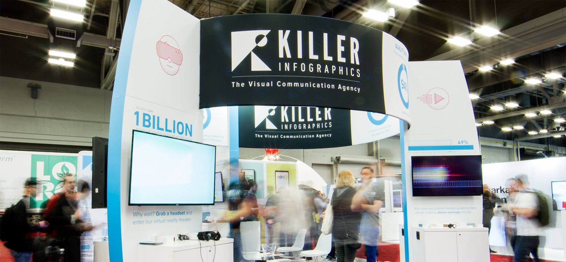 Trade Show Booth Etiquette : Ways to boost your trade show return with better visuals inc