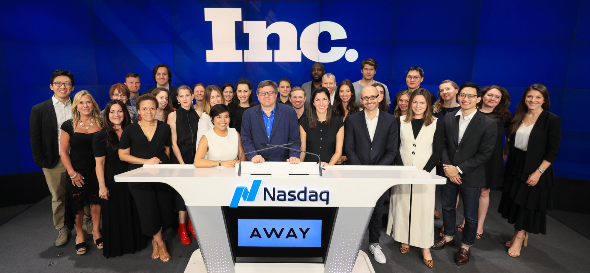 Away Co-Founders Ring Nasdaq's Opening Bell--With Inc.