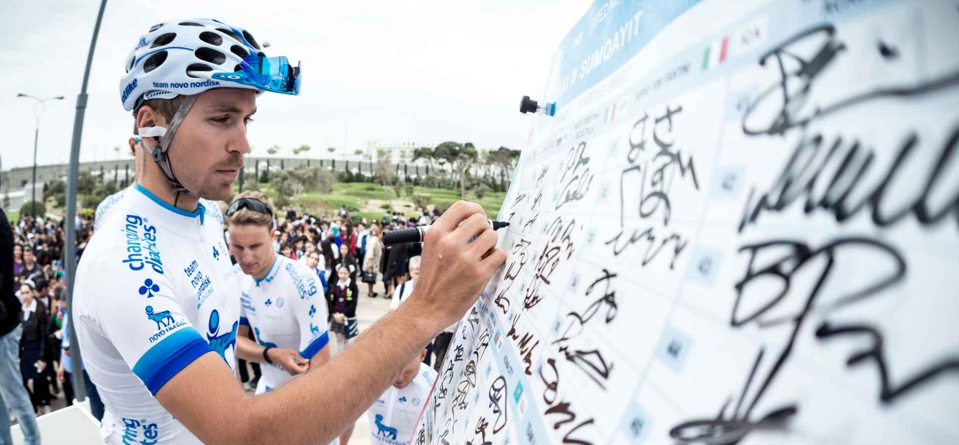 Winning With Diabetes  Pro Cycling Team Novo Nordisk Inspires Diabetics fcae203d2