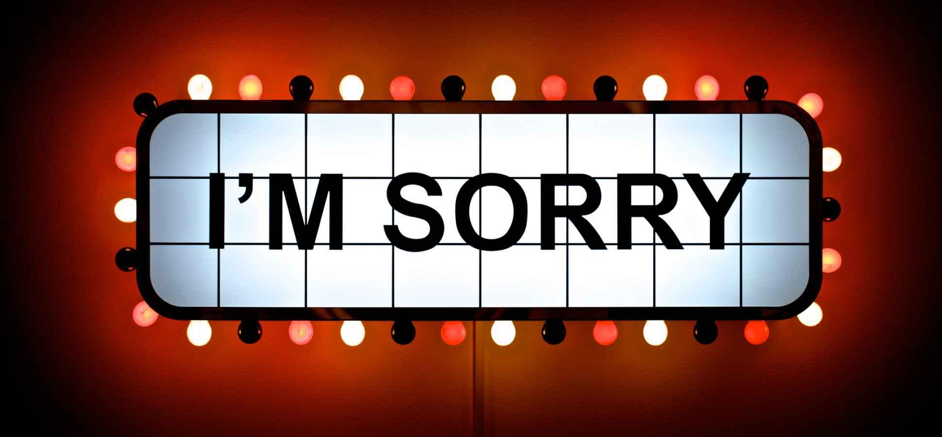 3 Types of Useless Apologies