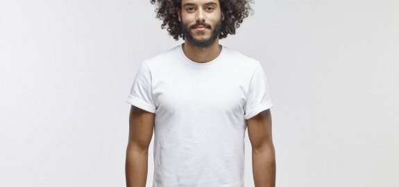 GUESS Mens Short Sleeve Wynn Croc Flock T-Shirt