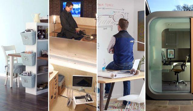Home Office Design 7 Very Creative Space Savers Add Slide Delete Slide