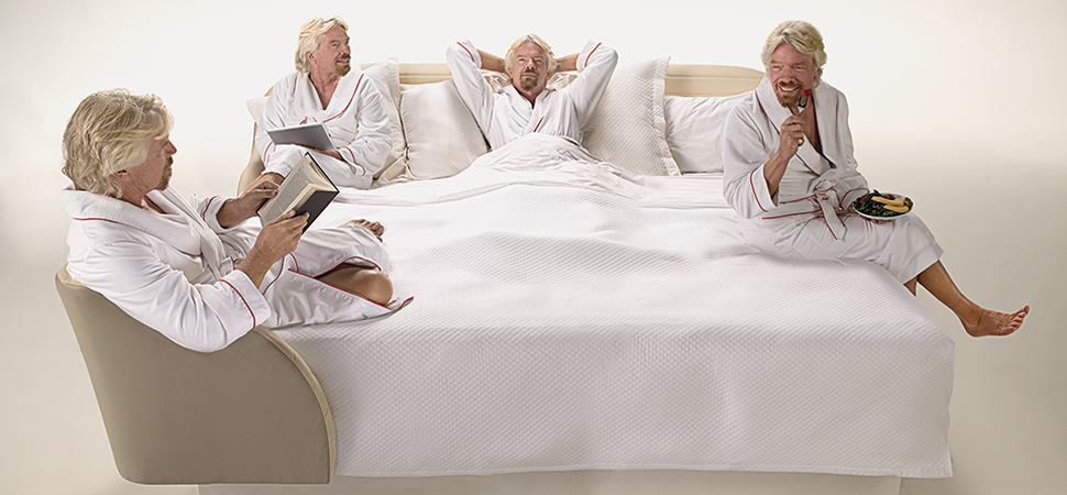 This Is Richard Branson's Vision for the Hotel Bed of the