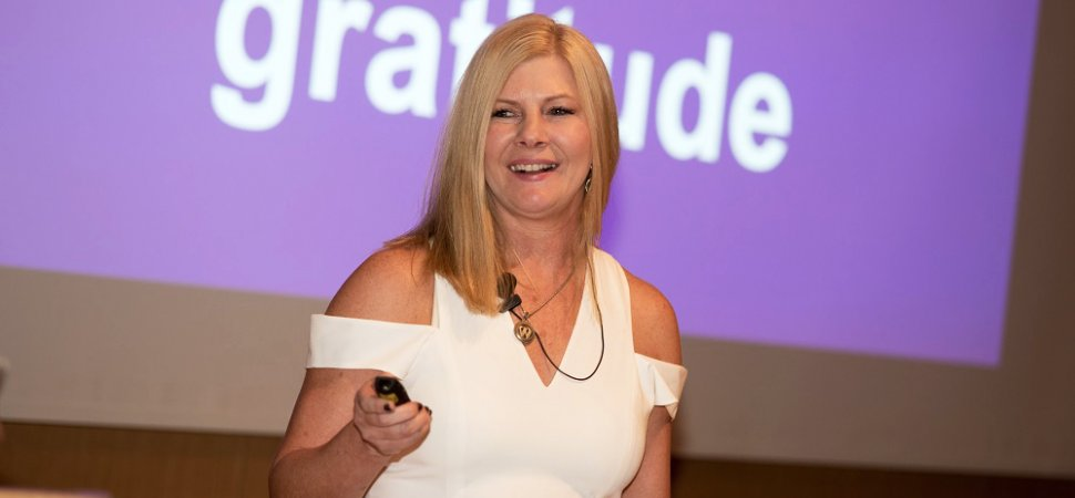 085c0b756b3 Wendy Lieber speaks to an audience of global women entrepreneurs in August  2017 about how she empowered her gratitude to change her life.