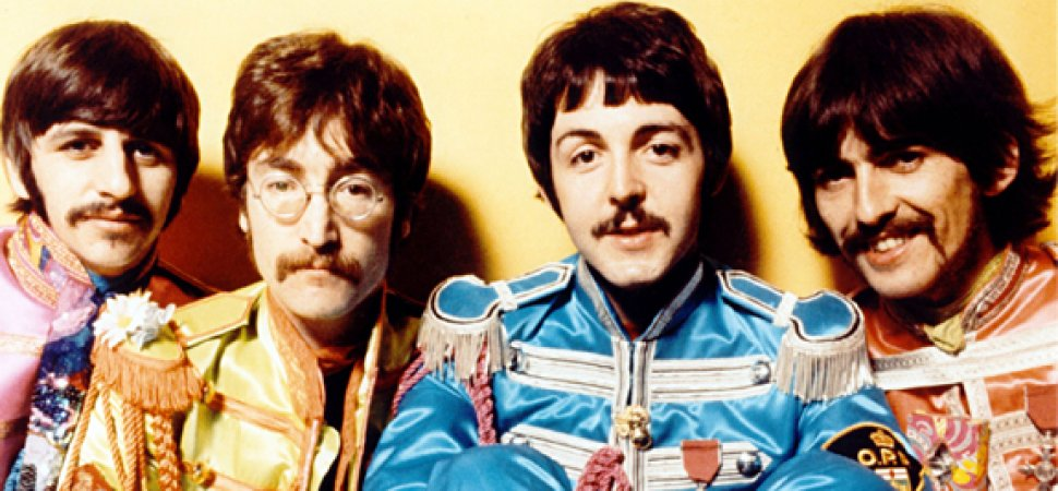 THE FAB FOUR Ringo Starr John Lennon Paul McCartney George Harrison In A Promo Photo For Sgt Peppers Lonely Hearts Club Band 1967
