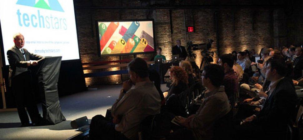 New York City Mayor Bloomberg Jokes About Taxes at TechStars