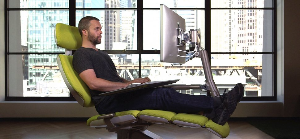 You Can Lay Down And Use This Desk And Itu0027s Awesome | Inc.com Design