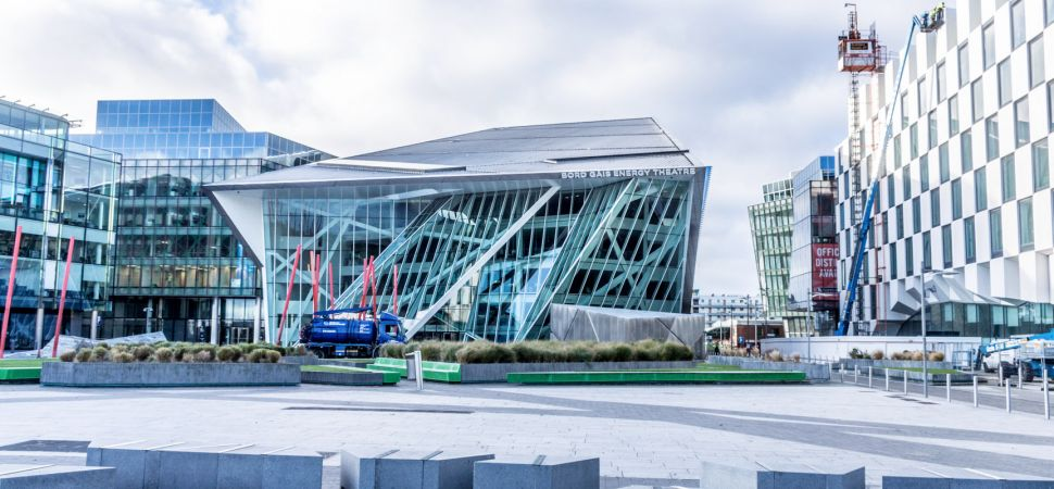facebook office in dublin. the grand canal square dublin docklands facebook office in