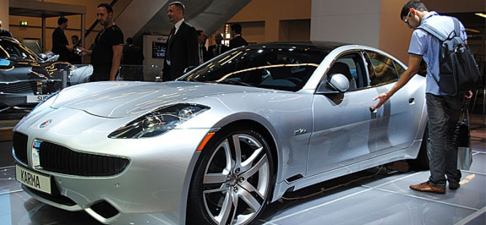 Attendees At The Frankfurt Auto Show Check Out Fisker Karma In October 2017