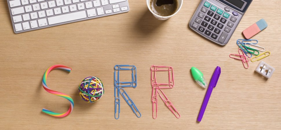 5 Tips to Help You Apologize for Any Workplace Mistake | Inc com