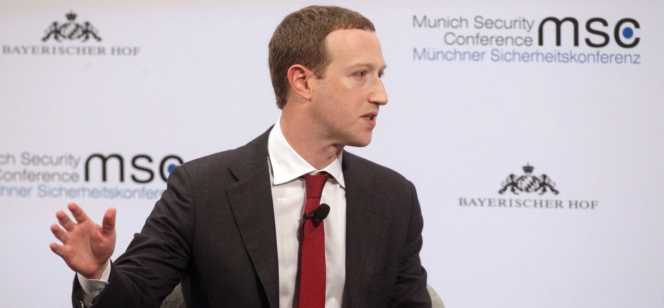 Mark Zuckerberg Calls For Regulation of Tech Companies. Sort Of