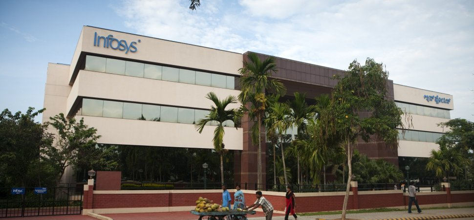 Infosys (Info Systems) glass building, Electronics City.