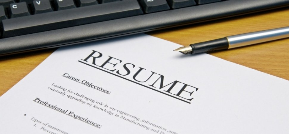 build a resume from scratch
