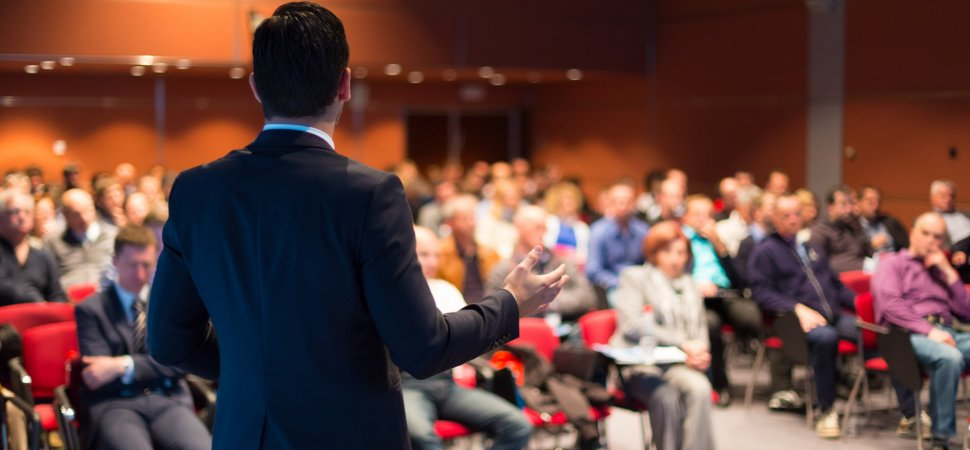 Want to Give a Great Presentation? Ban the PowerPoint and Burn the Podium getty 499517325 210661