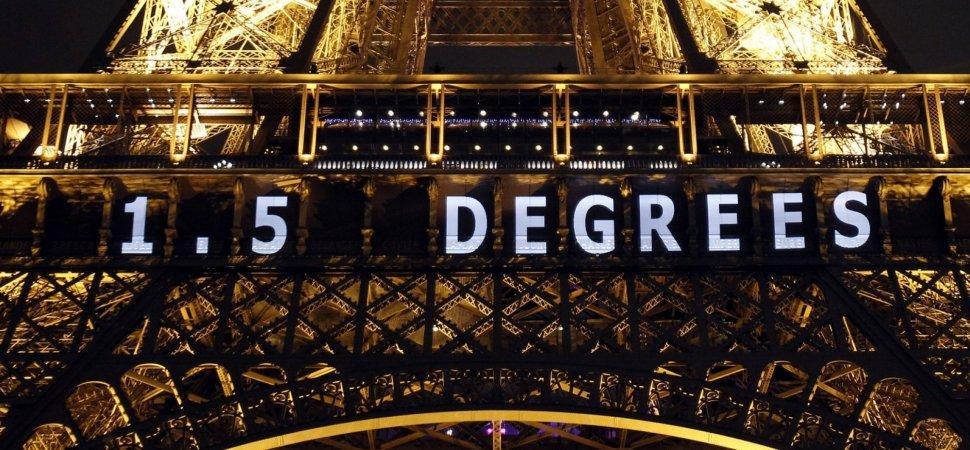 tour eiffel avec objectif de réduction de 1,5 degrés lors de l'accord de paris