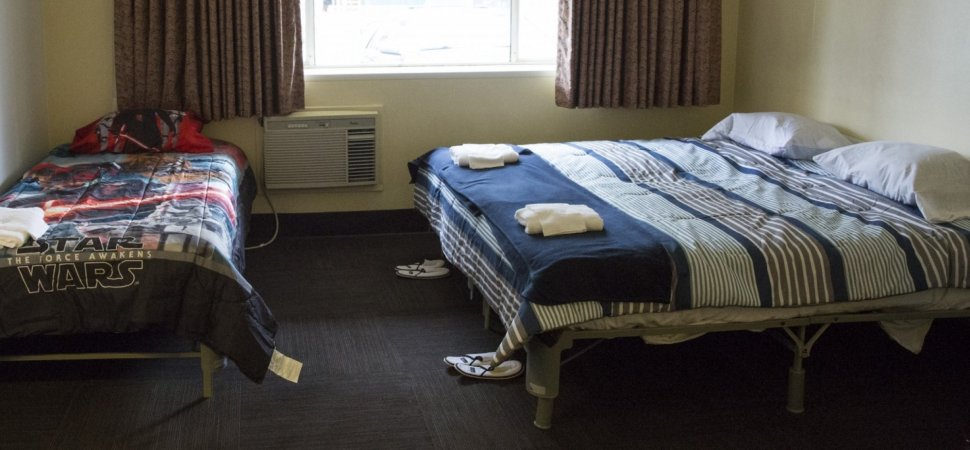 Nice A bedroom is pictured inside a former motel building owned by Amazon that the pany has offered to the non profit Mary us Place to use as a temporary
