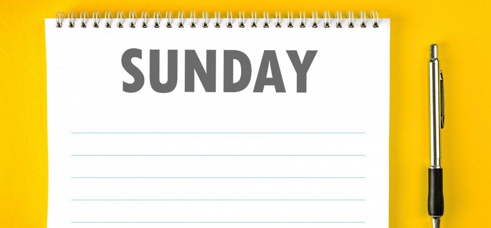 Use Sunday Night to Make the Week Better image