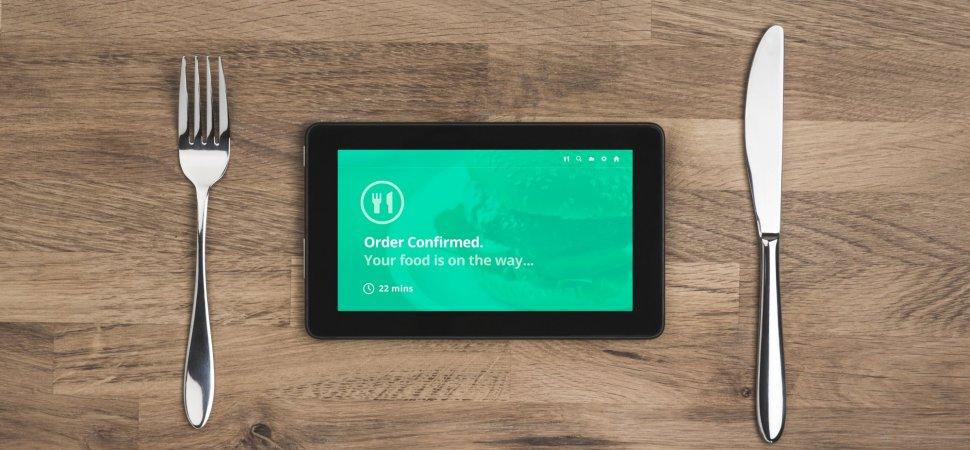 food order online confirmation on tablet
