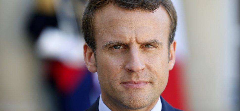 French President Emmanuel Macron Receives Pedro Pablo Kuczynski, president of Pe