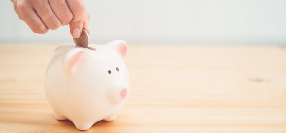 Ceramic Piggy Bank Early Retirement New