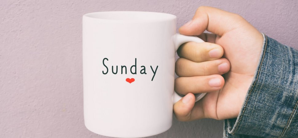 5 Things Successful People Do Every Sunday