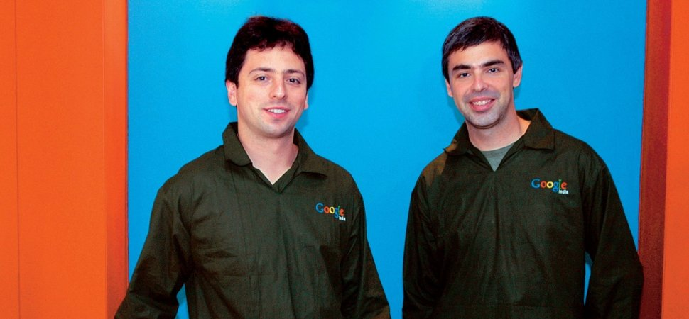 Image result for images of Google co-founders Larry Page and Sergey Brin resign as CEOs