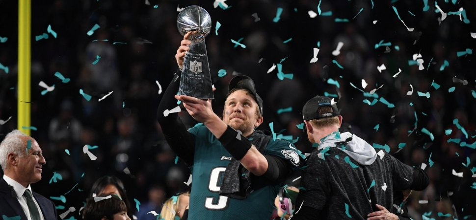 lowest price 0afa4 a4bdf It Only Took Super Bowl MVP Nick Foles 1 Minute to Share a ...