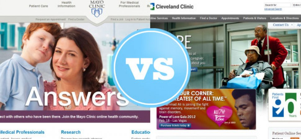 Website Smackdown: Mayo Clinic vs  Cleveland Clinic | Inc com
