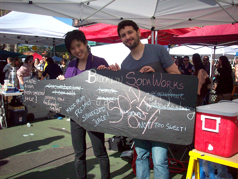 Caroline Mak and Antonio Ramos of Brooklyn Soda Works