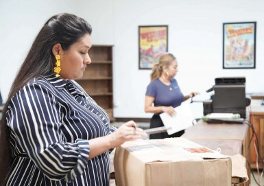 Priscilla Luna of Today's Business Solutions, pictured here with her mother Mely Jimenez, who co-founded the business with her husband Robert in 2003. inline image