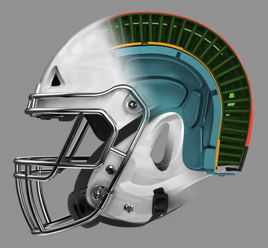 the football helmet just got the biggest redesign since the 1960s