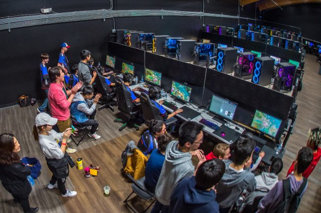 Students at Colorado's Cherry Creek High School compete in League of Legends. inline image