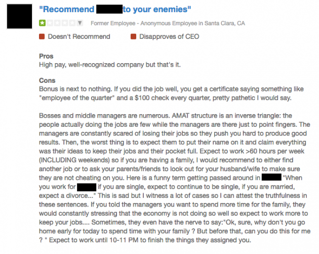 The 5 Most Hilarious Glassdoor Reviews Of Silicon Valley Employers