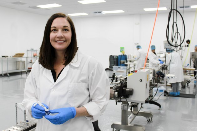 Eosera CEO Elyse Dickerson in the company's Fort Worth production facility.