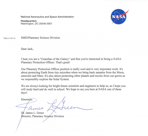 It Took Nasa 1 Day To Brilliantly Respond To A 9 Year Olds Job